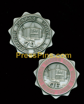 1974/2006 Pro Football Hall of Fame Press Pins