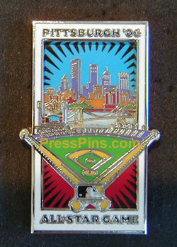 2006 Pittsburgh All Star Press Pin LARGE