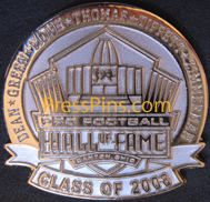 2008 Pro Football HOF Player Pin