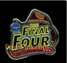 2008 NCAA Final Four Press Pin ( San Antonio) MAIN