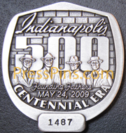 2009 Silver Indianapolis 500 Pit Badge