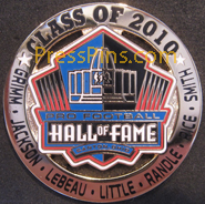 2010 Pro Football HOF Player Pin