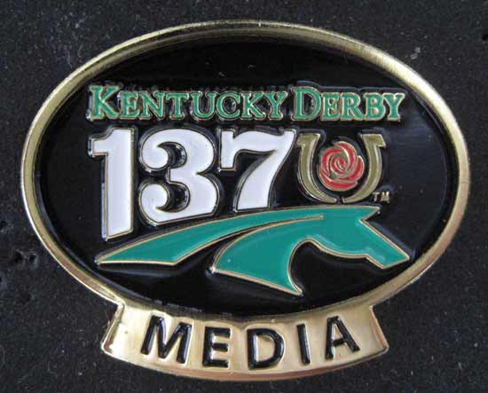2011 Kentucky Derby Media Pin