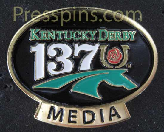 2011 Kentucky Derby Media Pin THUMBNAIL