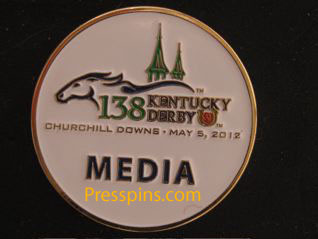 2012 Kentucky Derby Media Press Pin