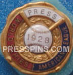1928 New York Yankees World Series Press Pin MAIN