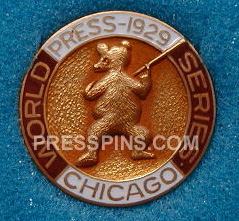 1929 Chicago Cubs World Series Press Pin