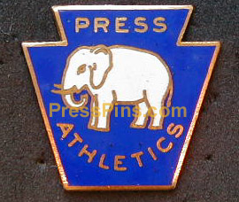 1929 Philadelphia Athletics World Series Press Pin