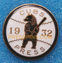 1932 Chicago Cubs World Series Press Pin