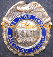 1937 Washington All-Star Pin MAIN