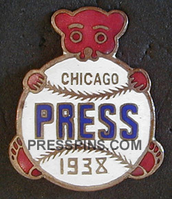 1938 Chicago Cubs World Series Press Pin