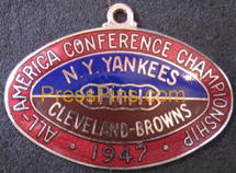 1947 All-America Conference Press Pin