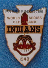 1948 Cleveland Indians World Series Press Pin