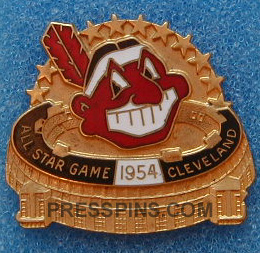 1954 Cleveland All-Star Press Pin MAIN