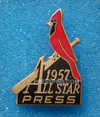 1957 St. Louis All-Star Press Pin