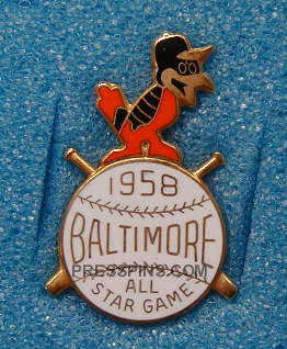 1958 Baltimore All-Star Press Pin