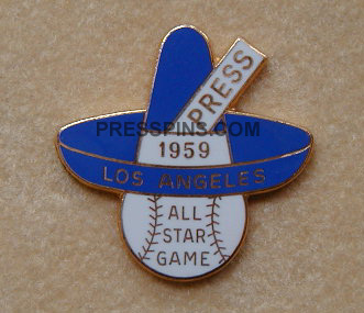 1959 Los Angeles All-Star Press Pin