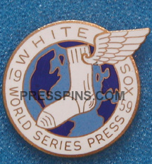 1959 Chicago White Sox World Series Press Pin MAIN