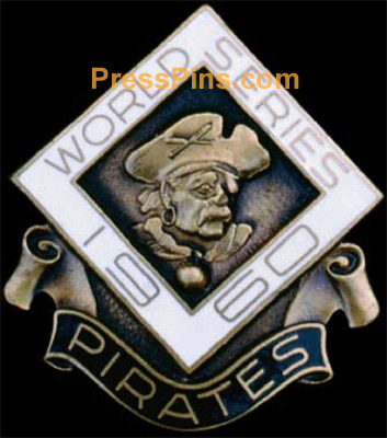 1960 Pittsburgh Pirates World Series Press Pin