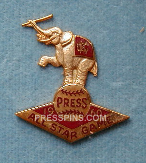 1960 Kansas City All-Star Press Pin MAIN