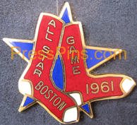 1961 Boston All-Star Press Pin MAIN