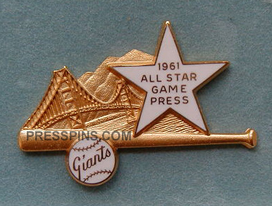 1961 San Francisco All-Star Press Pin