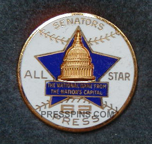 1962 Washington All-Star Press Pin