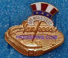 1964 New York Yankees World Series Press Pin MAIN