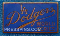 1965 Los Angeles Dodgers World Series Press Pin