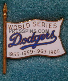 1966 Los Angeles Dodgers World Series Press Pin