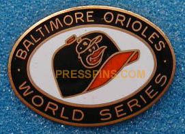 1969 Baltimore Orioles World Series Press Pin MAIN