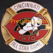 1970 Cincinnati All-Star Press Pin