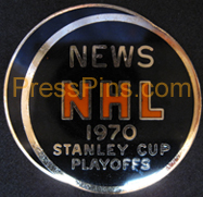 1970 NHL Stanley Cup Press Pin MAIN