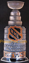 1971 NHL Stanley Cup Press Pin