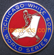 1972 Chicago White Sox World Series Phantom Press Pin MAIN