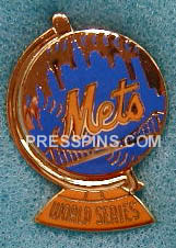1973 New York Mets World Series Press Pin_MAIN