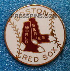 1975 Boston Red Sox World Series Press Pin MAIN