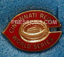 1975 Cincinnati Reds World Series Press Pin