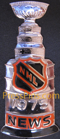 1975 NHL Stanley Cup Press Pin