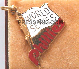 1976 Philadelphia World Series Phantom Press Charm
