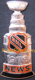 1976 NHL Stanley Cup Press Pin