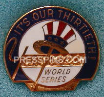1976 New York Yankees World Series Press Pin
