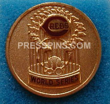 1976 Cincinnati Reds World Series Press Pin MAIN
