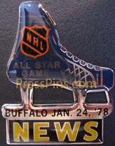 1978 NHL All-Star Press Pin (Buffalo)
