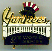 1978 New York Yankees World Series Press Pin MAIN