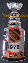 1978 NHL Stanley Cup Press Pin