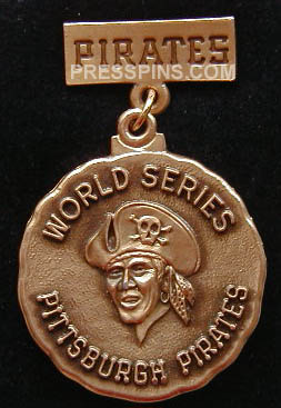 1979 Pittsburgh Pirates World Series Press Pin MAIN