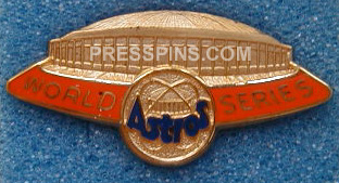 1980 Houston Astros World Series Phantom Press Pin