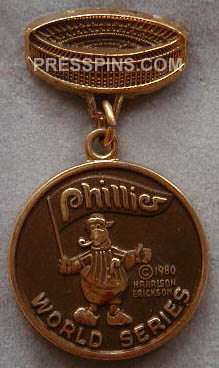 1980 Philadelphia Phillies World Series Press Pin