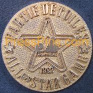 1982 Montreal All-Star Press Pin
